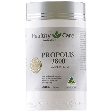 Healthy Care Propolis 2000mg 200 Capsules healthy care ultra premium propolis 3800mg 200 capsules