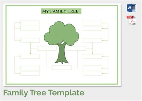 blank family tree template madinbelgrade