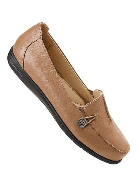 dr scholl s 174 side button leather loafers haband