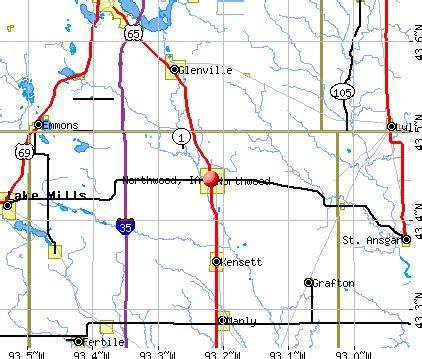 northwood, iowa (ia 50459) profile: population, maps, real