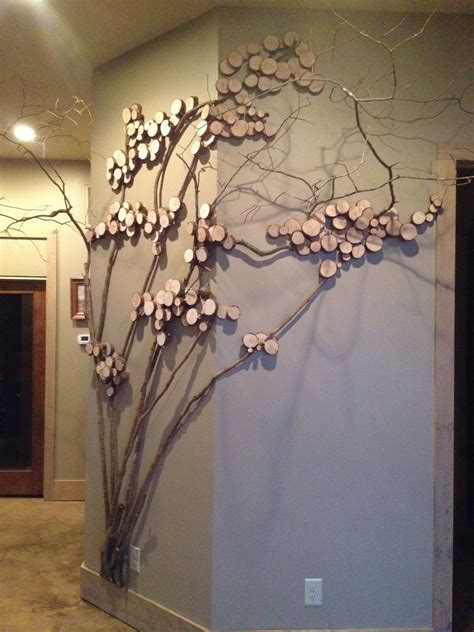 twig tree home decorating tree art twig art for wall decor wall art with mountain