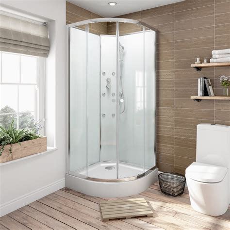 Bathroom Shower Cabins 5mm Quadrant Glass Backed Shower Cabin 900 Victoriaplum