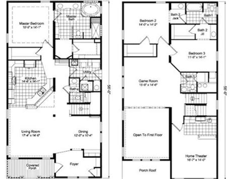 2 Story Townhouse Floor Plans by Two Storey Townhouse Plans Mexzhouse