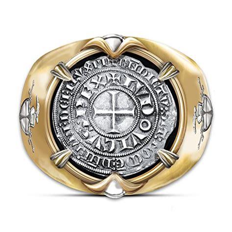 crusader  gold plated mens ring  valor ring