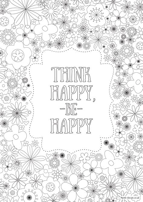 printable coloring pages with inspirational quotes free printable adult colouring pages inspirational