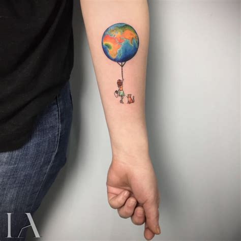 small tattoo earth balloon best tattoo ideas gallery