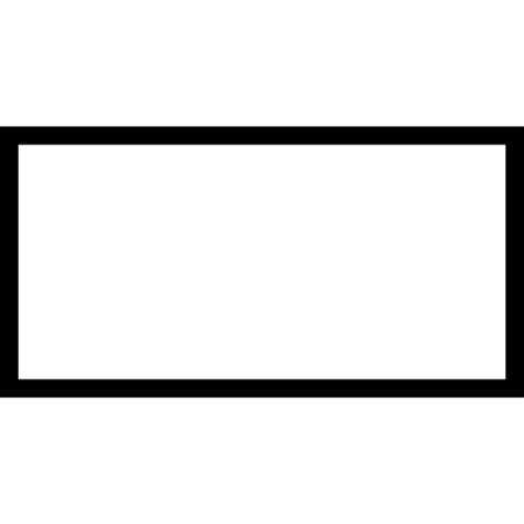 Black Outlined Rectangle by Rectangular Shape Outline Free Shapes Icons