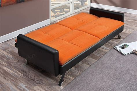 orange leather sofa bed zed orange leather sofa bed a sofa furniture