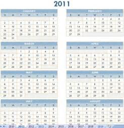 2011 Calendar Template by 2011 Yearly Calendar Templates Free Calendar Template 2016