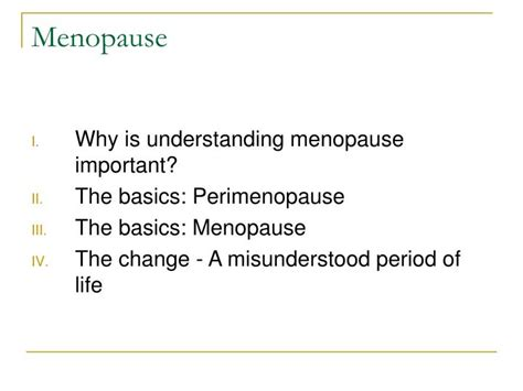 menopause and perimenopause overview slideshow ppt menopause powerpoint presentation id 1037056