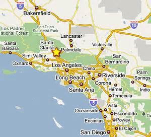 santa clarita california map los angeles santa clarita phone data network