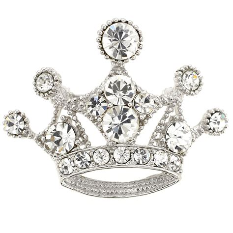 Crown Brooch silver crown brooch fantasyard costume jewelry