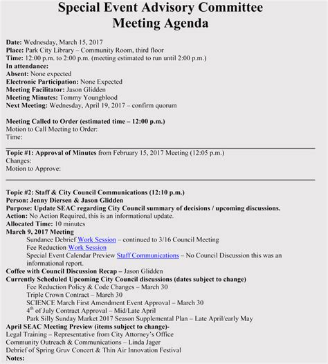 How To Prepare An Agenda For Event Planning With Free Templates Sle Event Agenda Template