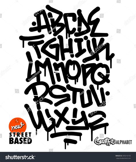 beautiful graffiti font design vector graffiti font stock vector 359210135 shutterstock