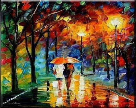 imagenes oleos abstractos paisajes abstractos noche de lluvia pinturas al 243 leo