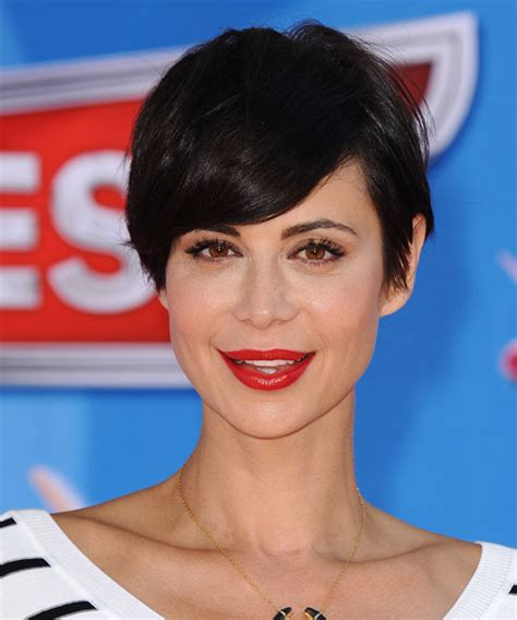 catherine bell short formal hair catherine bell short straight casual hairstyle black