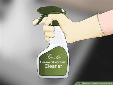 how to clean ceramic sink 3 ways to clean a ceramic sink wikihow