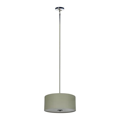 Drum Lighting Pendant Shop Whitfield Lighting Modena 16 In Chrome Drum Pendant At Lowes