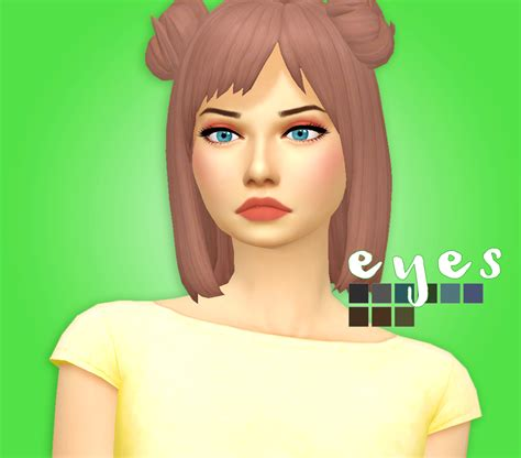 sims 4 maxis match cc hair sims 4 mm cc maxis match eyes s i m s pinterest