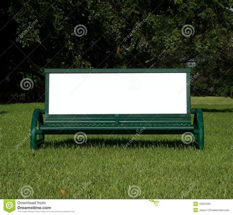 bench ad ad bench stock photos image 15331593