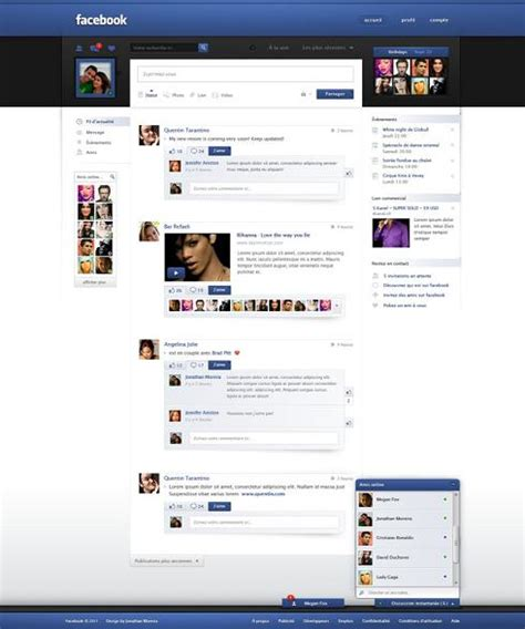 home design social network free facebook redesign layout psd realistic objects