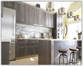 Grey Cabinets In Kitchen grey stained kitchen cabinets home design ideas