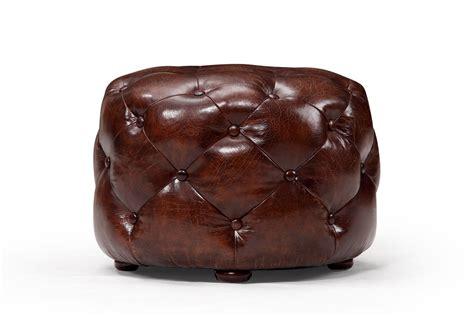cuir ottoman petit ottoman chesterfield en cuir