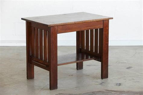 arts crafts style library arts and crafts mission style oak library table for sale