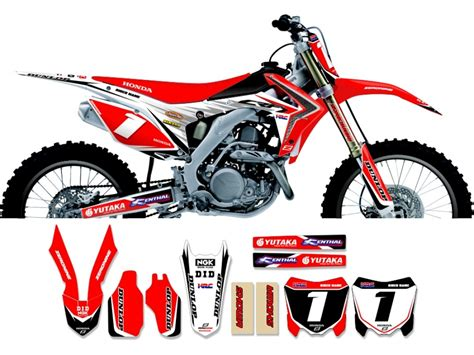 Decal Crf Kode 011 015 honda race team graphic kit all japan 13