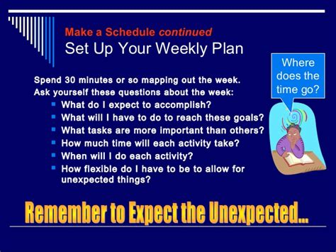 time management questions for college students