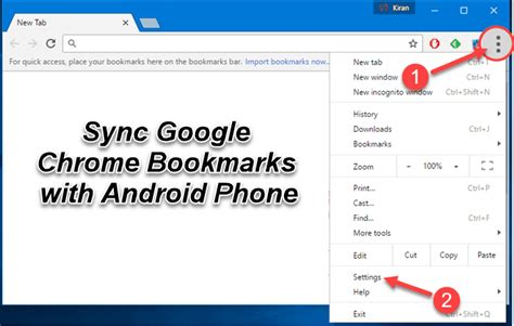 bookmarks on android how to synchronize chrome bookmarks with android device