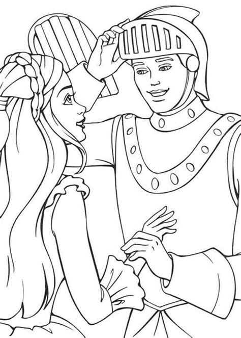 coloring pages knights and princesses knight and princess coloring pages