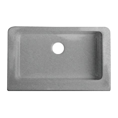 shop corstone metallic silver single basin acrylic apron