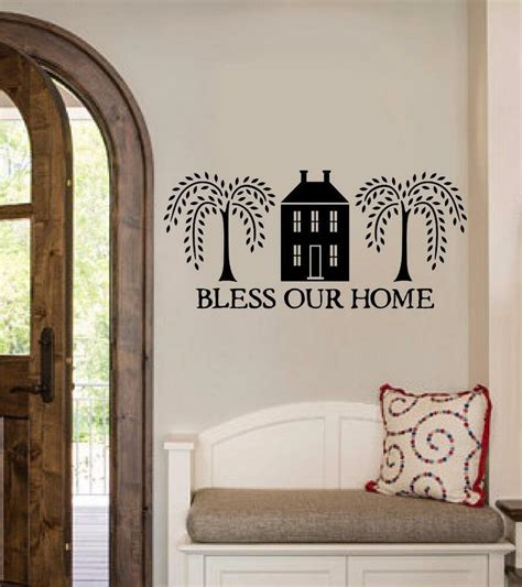 home decor stickers wall bless our home vinyl decal wall sticker words lettering