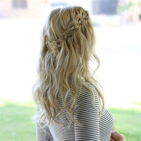 Waterfall Braid Hairstyles by 20 Flowing Waterfall Braid Styles