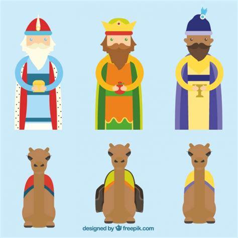 imagenes reyes magos con camellos los tres reyes magos y los camellos descargar vectores