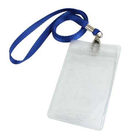 Name Tag Id Card Holder Lanyard Lego Go vertical clear plastic id badge card holder w neck 2 pcs ebay