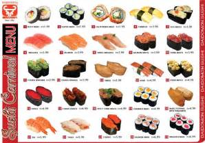 sushi menu with pictures 2nd grade 2014 pinterest sushi menu sushi and pictures