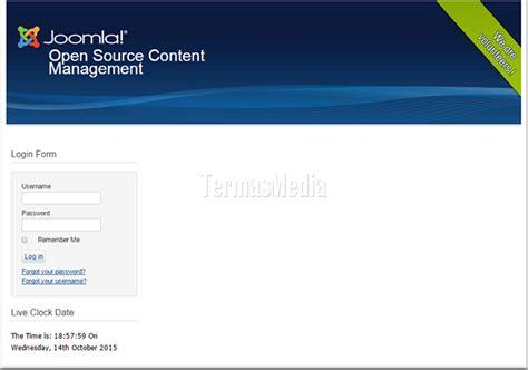 mengganti template di website joomla