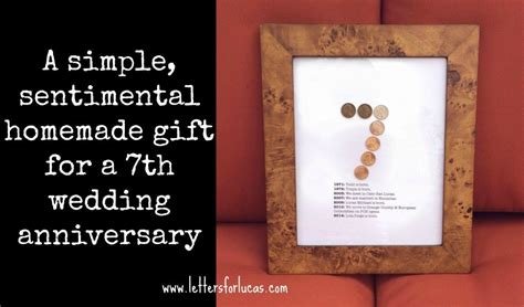 a simple gift idea for your 7th wedding anniversary via letters4lucas ideas copper