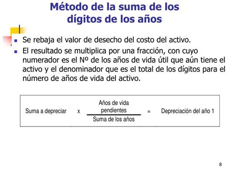la suma de los ppt depreciaci 243 n contable y fiscal powerpoint presentation id 1351790