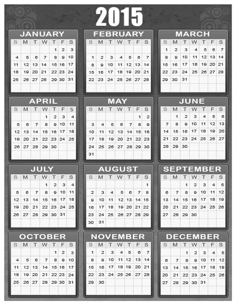 printable calendar horizontal 2015 search results for 2015 horizontal calendar printable