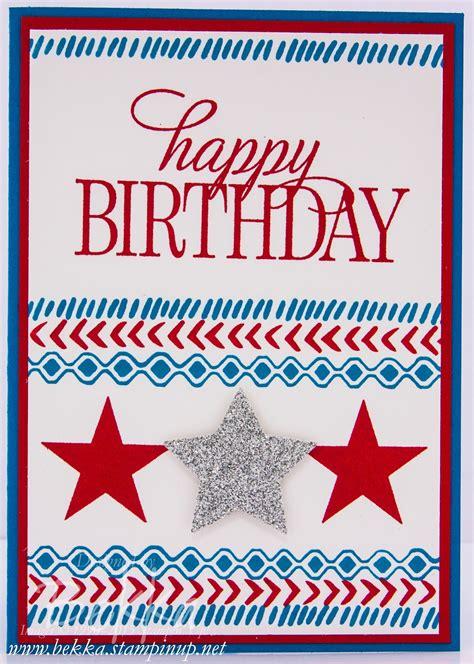 Fourth July Birthday Cards Stin Up Uk Feeling Crafty Bekka Prideaux Stin