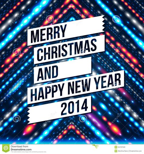 new year period 2014 merry and happy new year 2014 card stock photos