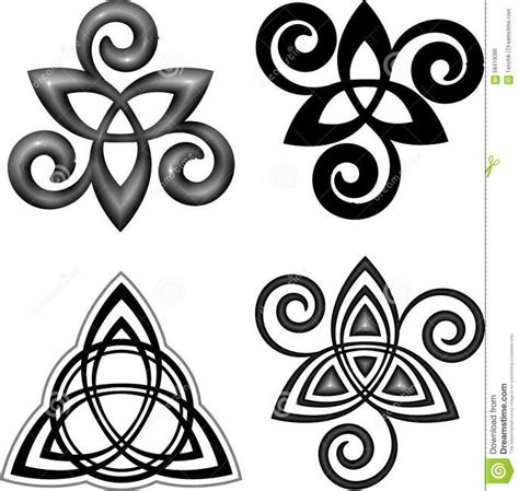 triple spiral tattoo designs triquetra and spiral triskele tattoos