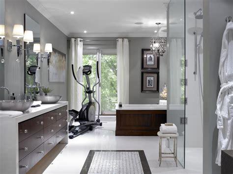 spa master bathroom  home gym hgtv