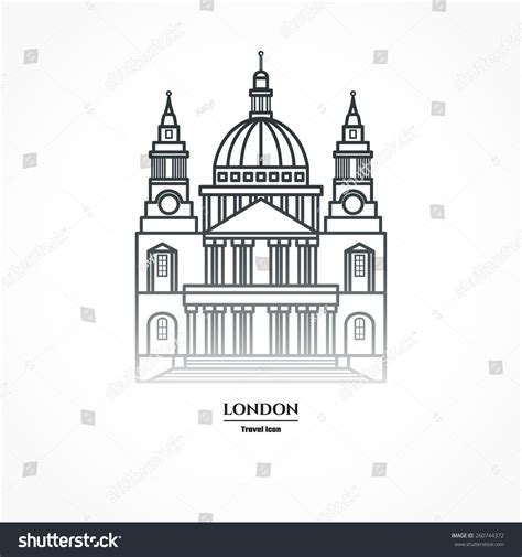 st templates vector illustration st pauls cathedral icon stock vector