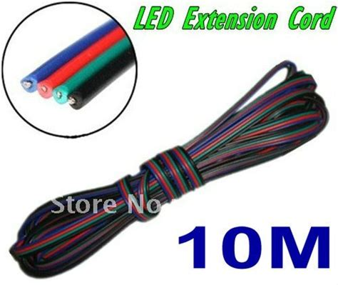Kabel Usb Extention 10m Netline aliexpress buy 10m 4 pins led rgb cable wire