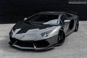 black chrome lamborghini aventador vehicle customization