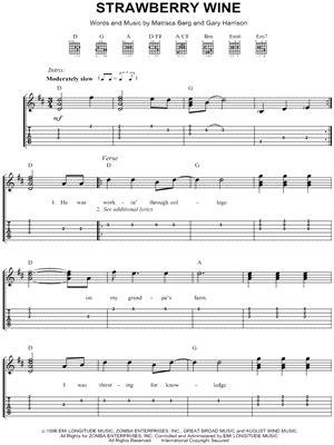 Strawberry Wine Guitar Chords